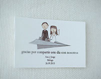Seatting y tarjetas para Boda, Ana&Jorge