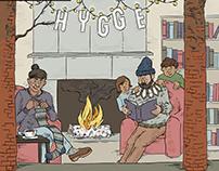 """Princeton Public Library Magazine Cover — """"Hygge"""""""