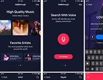 LOVEMUSIC a music streaming iOS app