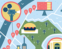 Maps for re:porter magazine