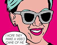 Celebrity Pop Art Poster Series