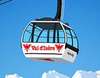 Val D'Isere Ski Resort Poster