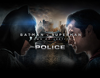 Police limited edition watches Batman v Superman Watch