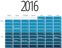 Long Spectrum Calendar