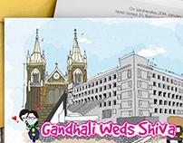 Gandhali & Shiva (Doodle Wedding Invite)