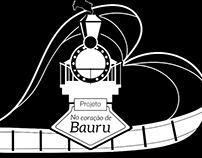 """Logotipo """"No coração de Bauru"""""""