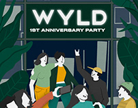 WYLD Anniversary Party Poster