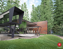 Container house - Architecture visualization