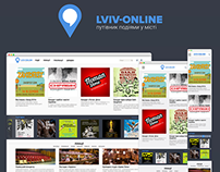 Lviv-Online. City Event Guide Concept Design