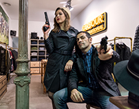 Bonnie & Clyde en Barbour International