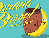 Banana Barrel (Full Sail) Packaging Design