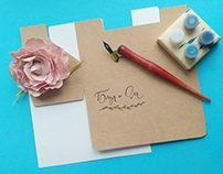 Wedding calligraphy for invitations