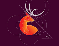 Deer Logo Design with Golden Ratio