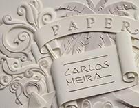 Signature. Paper sculpture.
