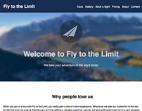 Fly to the Limit Web Design Concept