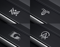4 Different logo 4 deferent company in a one frame.