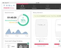 Tesla Powerwall UI Monitoring App Concept