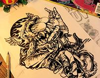 Tha KUSTOM FUCKIN CUB- Illustration process