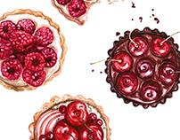 Watercolor food illustration | Breakfast time