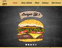 Layout para Site Burger Vip's