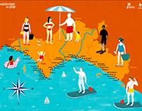 Valencia beach map