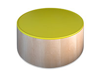 Polygon Storage - Cylinder Coffee Table
