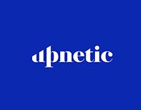 Upnetic - wordmark logo design.