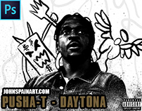 PUSHA T - DAYTONA ALBUM COVER RE-DESIGN PROCESS