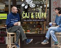 ČAJ&EKIPA store branding