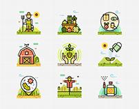 Organic Farm Line Color - Farm Stories