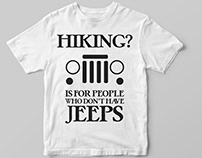 Jeep Drivers T-Shirt Designs