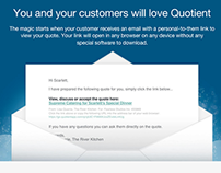 QuotientApp website copy