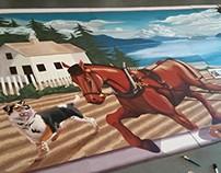 Silverdale Centennial Mural Installation