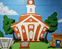 Caricatures of Schools and Town!