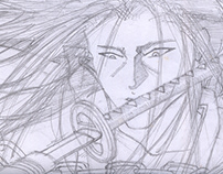 comic draft about Samurai - created in 2001