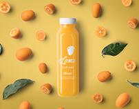 Organic fruit pulp bottle design