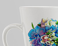 Bouquet sketch print on mug