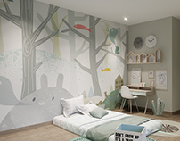 Mint kid room