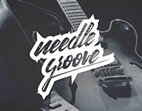 Needle Groove Lettering Logotype