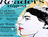 Reader's Digest front Cover & Lead feature illustration