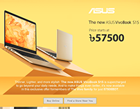 Product Landing Page for ASUS