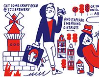 CITIx60 City Guide — Amsterdam (illustrations)