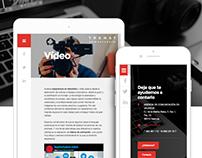 Trenat Comunicaciò: Website Design
