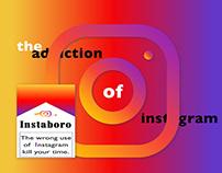 Addiction of social media.