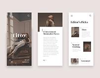 Fashion Editor Magazine Concept