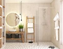 bathroom retrotiles #microcret #retrotiles