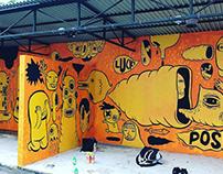 Hati dan Perasan mural for D/SINI art festival