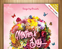 Happy Mothers Day Flyer PSD Template