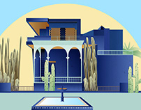 Jardin Majorelle Illustration