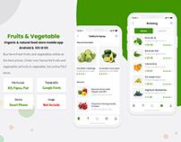 Fruits & Vegetable online Store Mobile App UI Kit